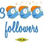 Colas twitter 3000 followers birds