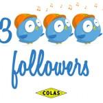 Colas twitter 3000 followers birds